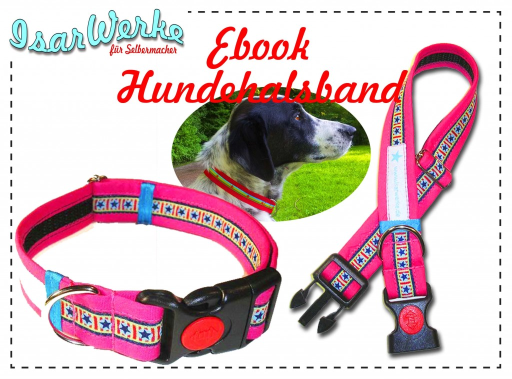 Nähanleitung  verstellbares Hundehalsband