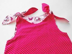 Paula Pink Rosa Träger Detail