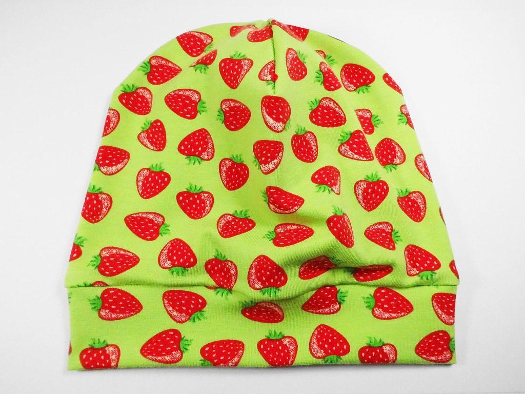 Beanie Erdbeeren Grün