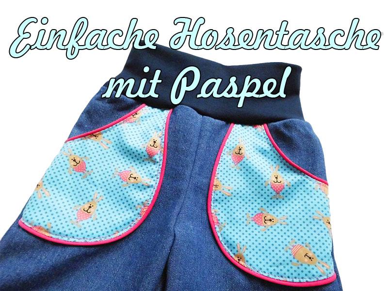 Pumphose MIKA 2.0 Einfache Tasche mit Paspel